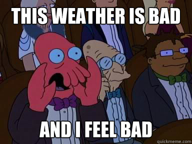 this weather is bad and i feel bad - Critical Zoidberg