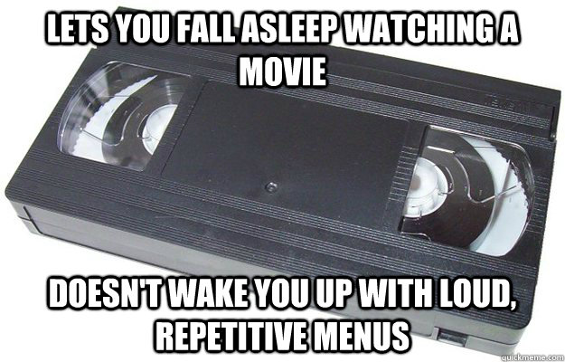 lets you fall asleep watching a movie doesnt wake you up wi - Good Guy VHS