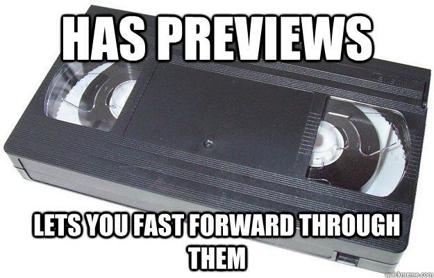 has previews lets you fast forward through them - Good Guy VHS