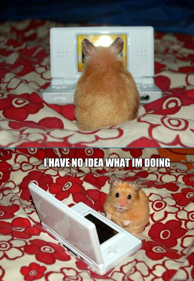i have no idea what im doing - bad computer hamster