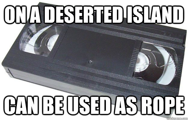 on a deserted island can be used as rope - Good Guy VHS