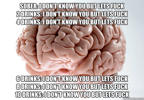 sober i dont know you but lets fuck 2 drinks i dont know - Scumbag Brain