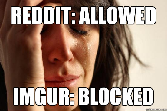 reddit allowed imgur blocked - First World Problems