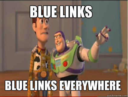 blue links blue links everywhere - woody and buzz