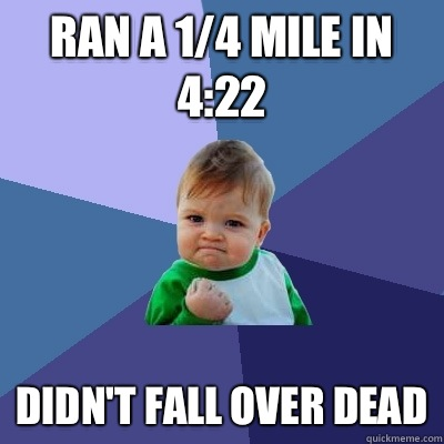 Ran a 14 mile in 422 Didnt fall over dead - Success Kid