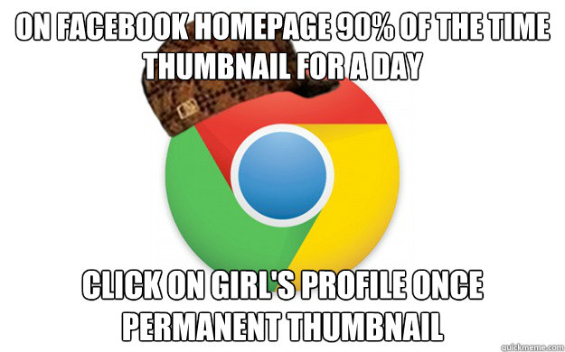 on facebook homepage 90 of the time thumbnail for a day cli - Scumbag Chrome