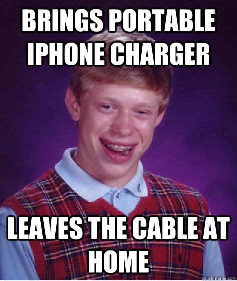 Brings Portable Iphone Charger Leaves The Cable At Home