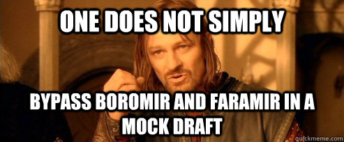 one does not simply bypass boromir and faramir in a mock dra - One Does Not Simply