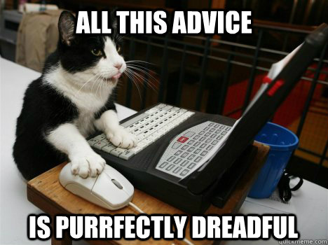 all this advice is purrfectly dreadful - Reddit Cat
