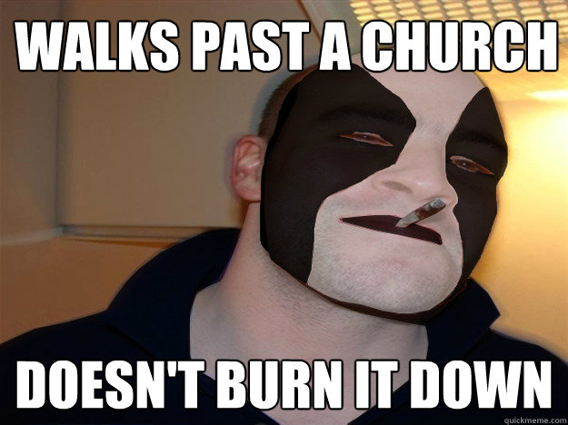 walks past a church doesnt burn it down -
