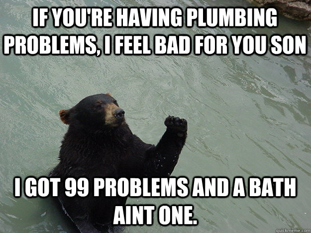 if youre having plumbing problems i feel bad for you son i - Vengeful Bear