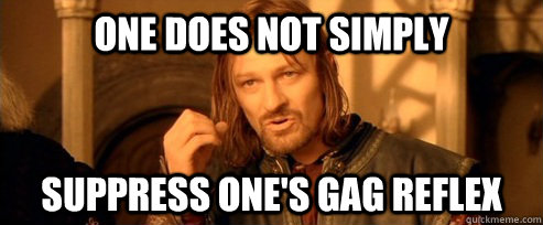 one does not simply suppress ones gag reflex - One Does Not Simply