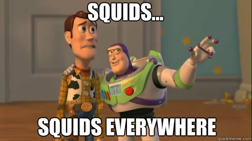 squids squids everywhere - Everywhere