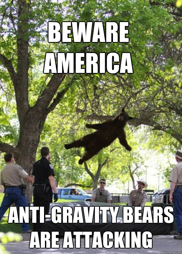 beware america antigravity bears are attacking  - i am a falling bear