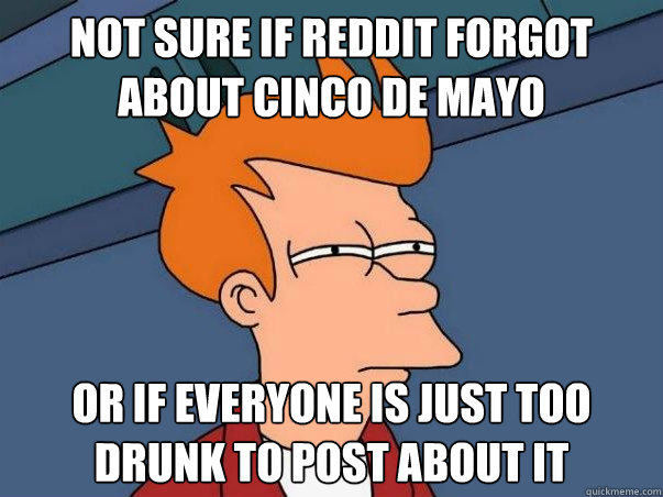not sure if reddit forgot about cinco de mayo or if everyone - Not sure Fry