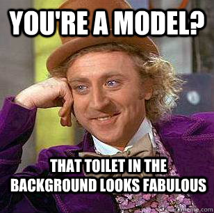 youre a model that toilet in the background looks fabulous - Condescending Wonka