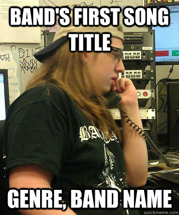 bands first song title genre band name - 