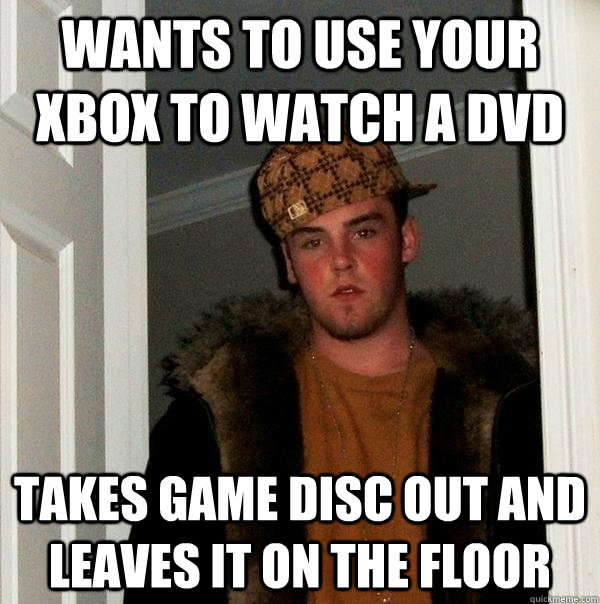 wants to use your xbox to watch a dvd takes game disc out an -