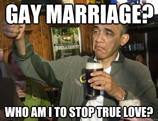 gay marriage who am i to stop true love - Upvoting Obama