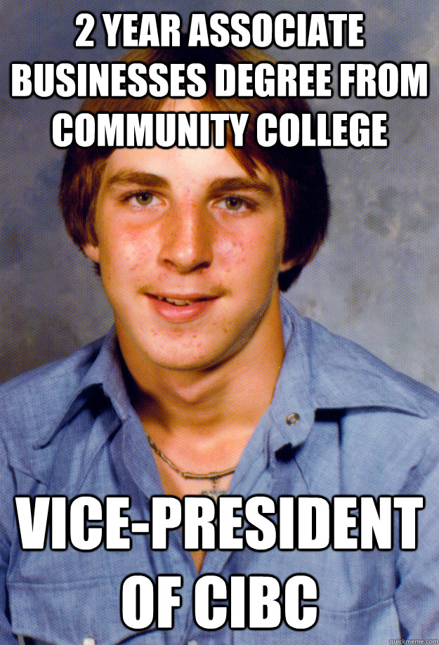 2 year associate businesses degree from community college vi - Old Economy Steven