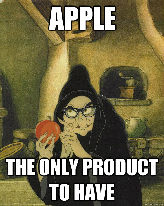 apple the only product to have - Hipster Snow White Witch