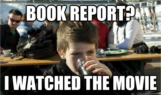book report i watched the movie - Lazy Elementary Student