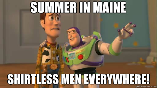 summer in maine shirtless men everywhere - Everywhere