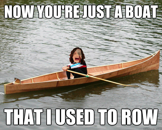 now youre just a boat that i used to row - Gotye