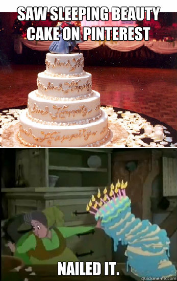 saw sleeping beauty cake on pinterest nailed it - Sleeping Beauty nailed it