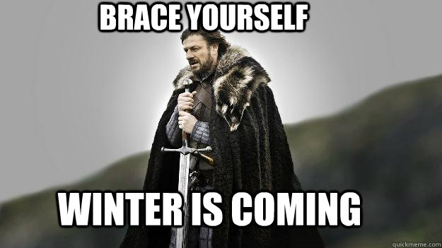 BRACE YOURSELF WINTER IS COMING - Ned stark winter is ...