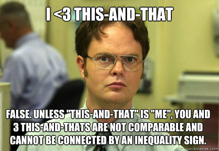i 3 thisandthat false unless thisandthat is me yo - Dwight