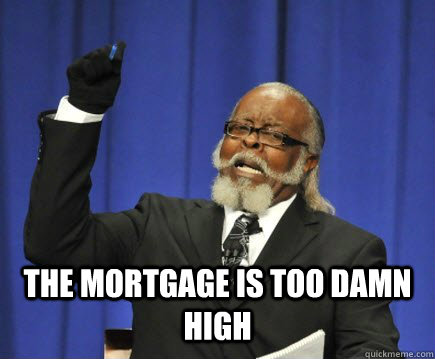 the mortgage is too damn high - Too Damn High
