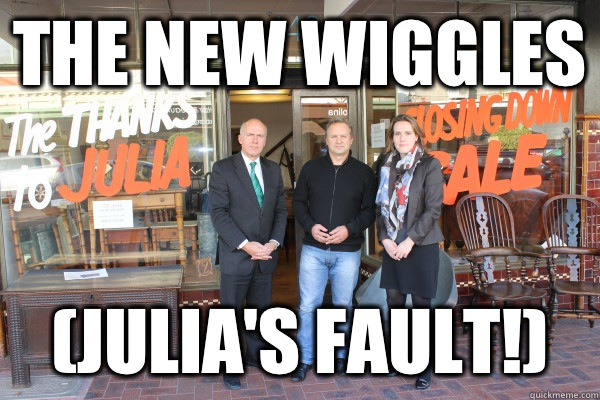 The new Wiggles Julias Fault -
