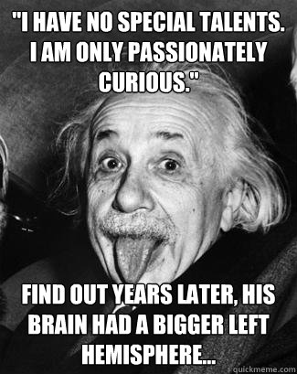 i have no special talents i am only passionately curious - Scumbag Einstein
