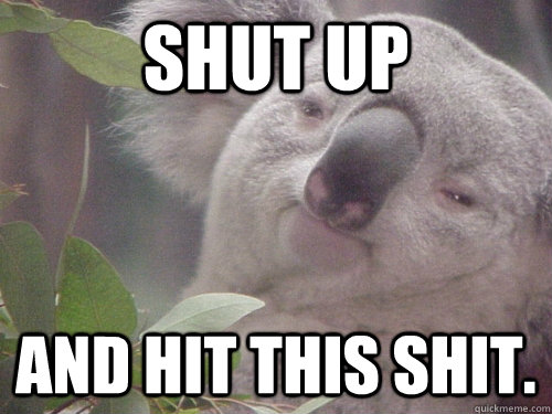 shut up and hit this shit - 10 Koala