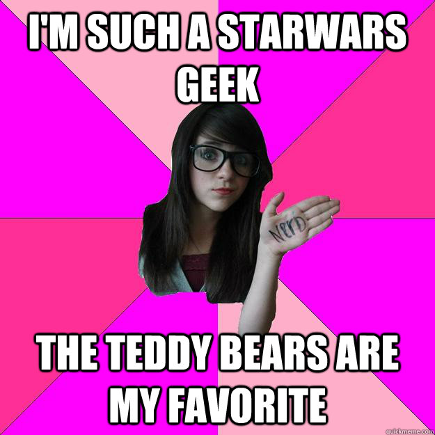im such a starwars geek the teddy bears are my favorite - Idiot Nerd Girl