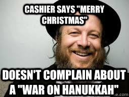 cashier says merry christmas doesnt complain about a war - Good Guy Rabbi