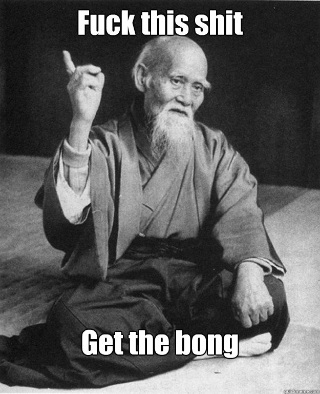 fuck this shit get the bong - Practical Advice Sensei