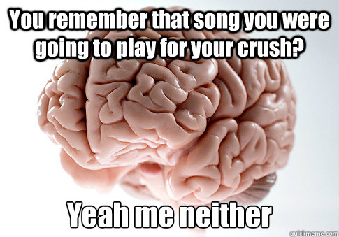 you remember that song you were going to play for your crush - Scumbag Brain