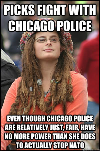 picks fight with chicago police even though chicago police a - College Liberal