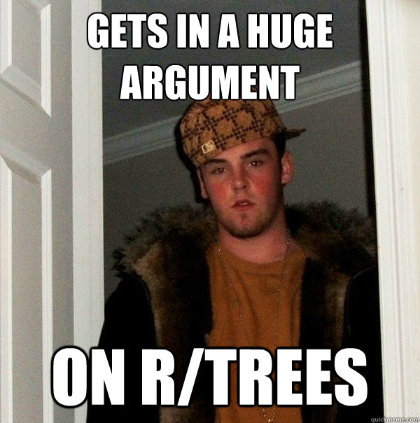 gets in a huge argument on rtrees - Scumbag Steve