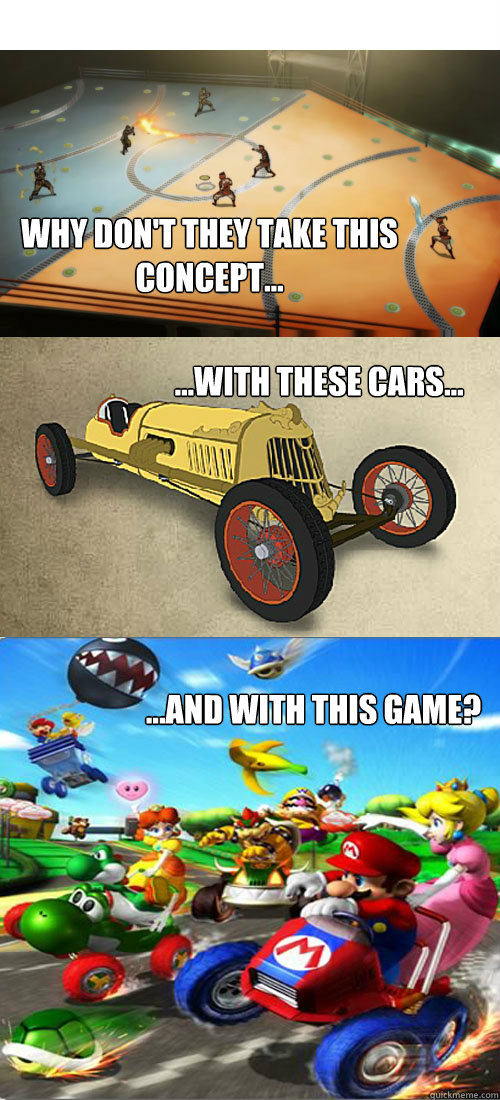 why dont they take this concept with these cars  - Korra Kart Double Dash