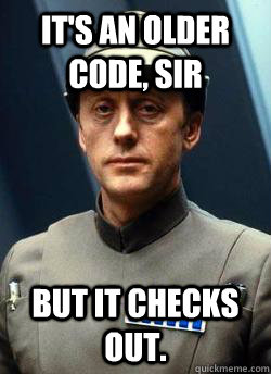 its an older code sir but it checks out - Older Code Sith