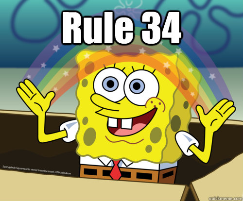 rule 34   spongebob rainbow   quickmeme