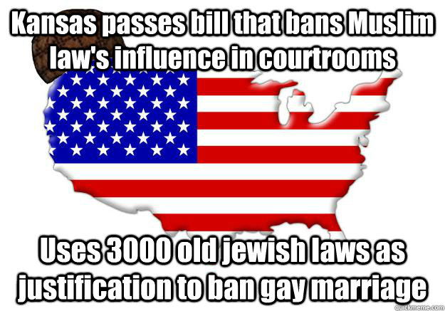 kansas passes bill that bans muslim laws influence in court - Scumbag america