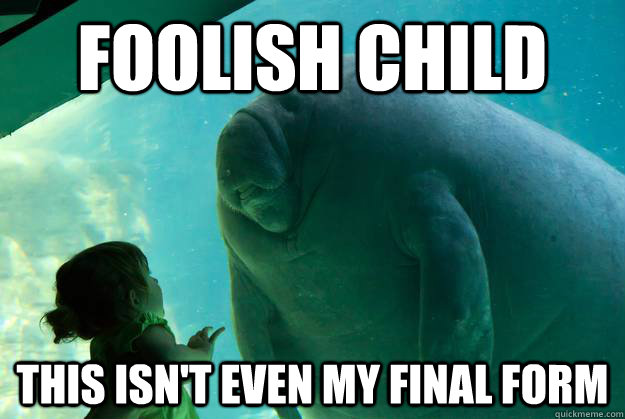 foolish child this isnt even my final form - Overlord Manatee