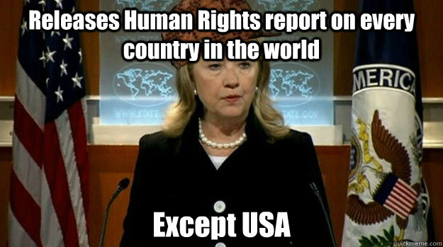 releases human rights report on every country in the world e - Scumbag USA