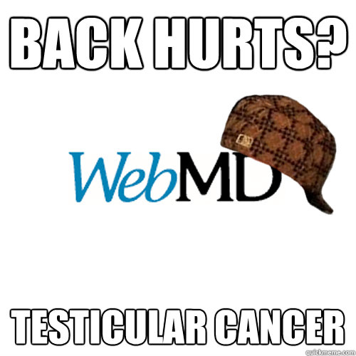 back hurts testicular cancer - Scumbag WebMD
