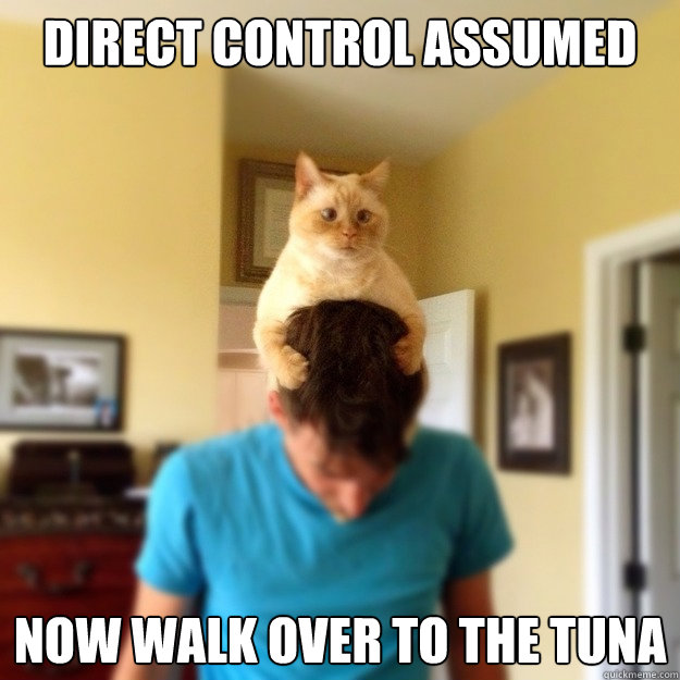 direct control assumed now walk over to the tuna - 