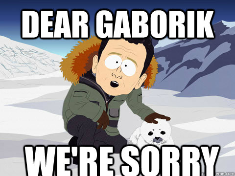dear gaborik were sorry - South Park BP Sorry